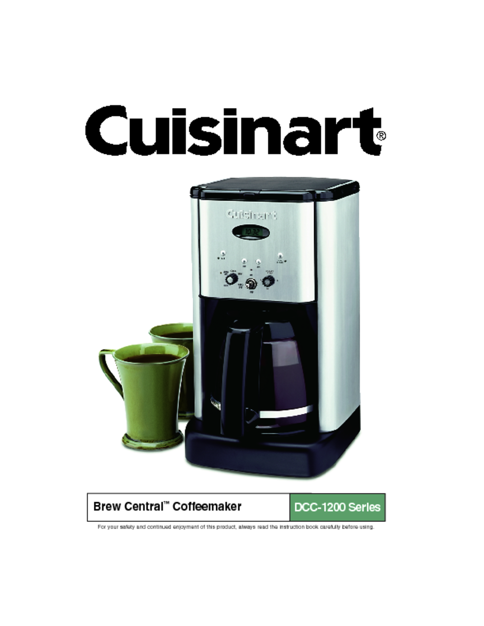 Cuisinart Coffee Maker Hot Water Manual : Self Cleaning Cuisinart Coffee Maker Instructions - irbrida