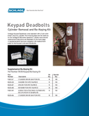 Cylinder Removal and Re-Keying Kit BE365 Manuals