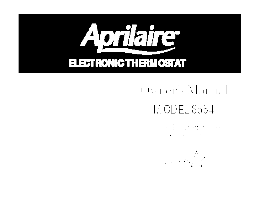 totaline energy star thermostat manual