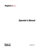 Rapidlab 800 Manuals