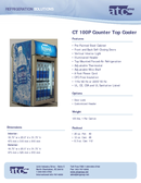 Counter Top Cooler CT 100P Manuals