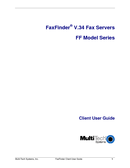 FaxFinder V.34 Fax Servers FF Model Series Manuals