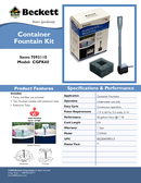 Container Fountain Kit CGFK60 Manuals