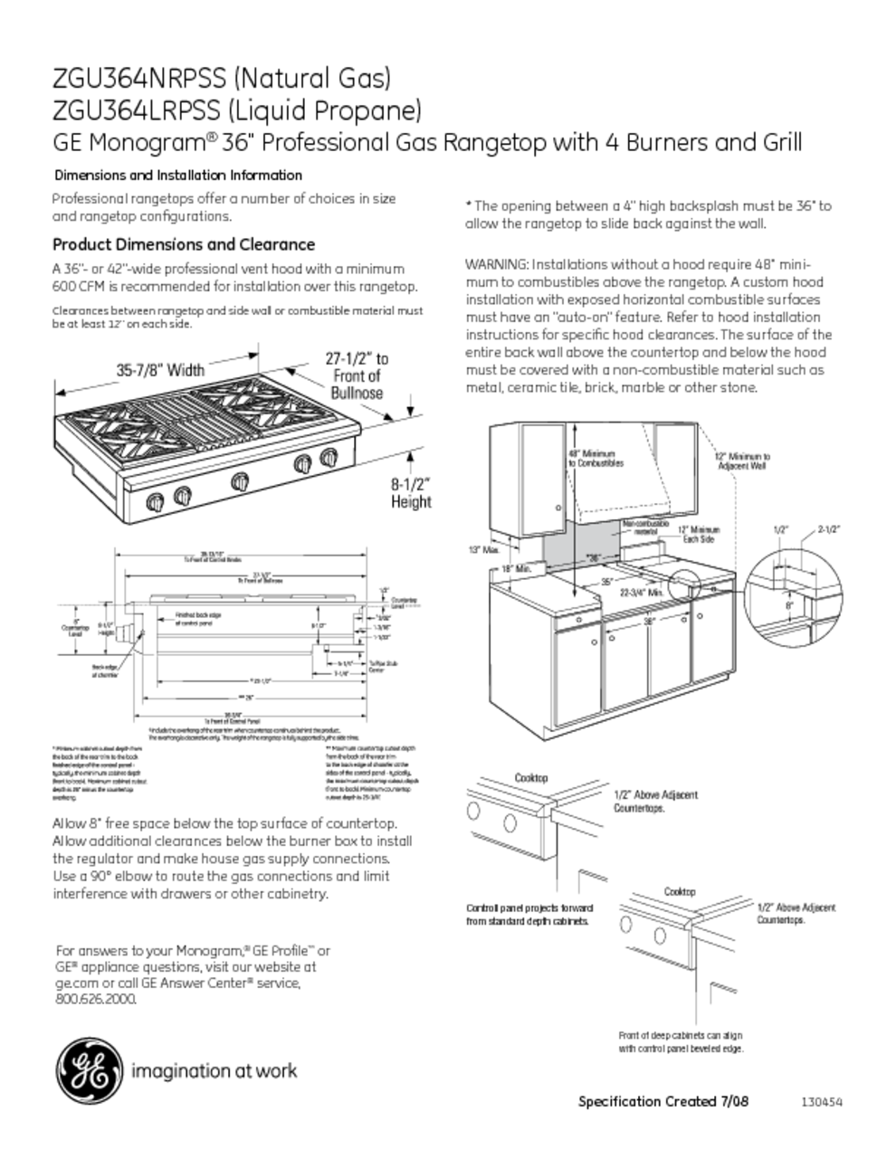 Ge Monogram Range Owners Manual Manual Guide