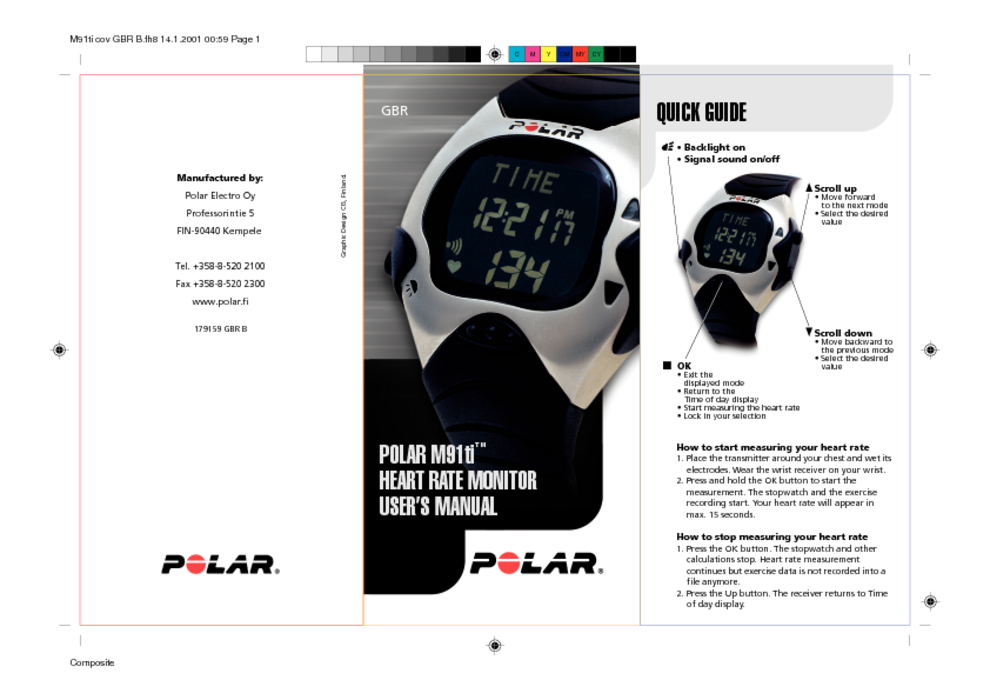 heart rate monitor users guides heart rate monitor page 16 rh usersmanuals1 com polar electro oy n2965 manual polar electro oy manual ce0537