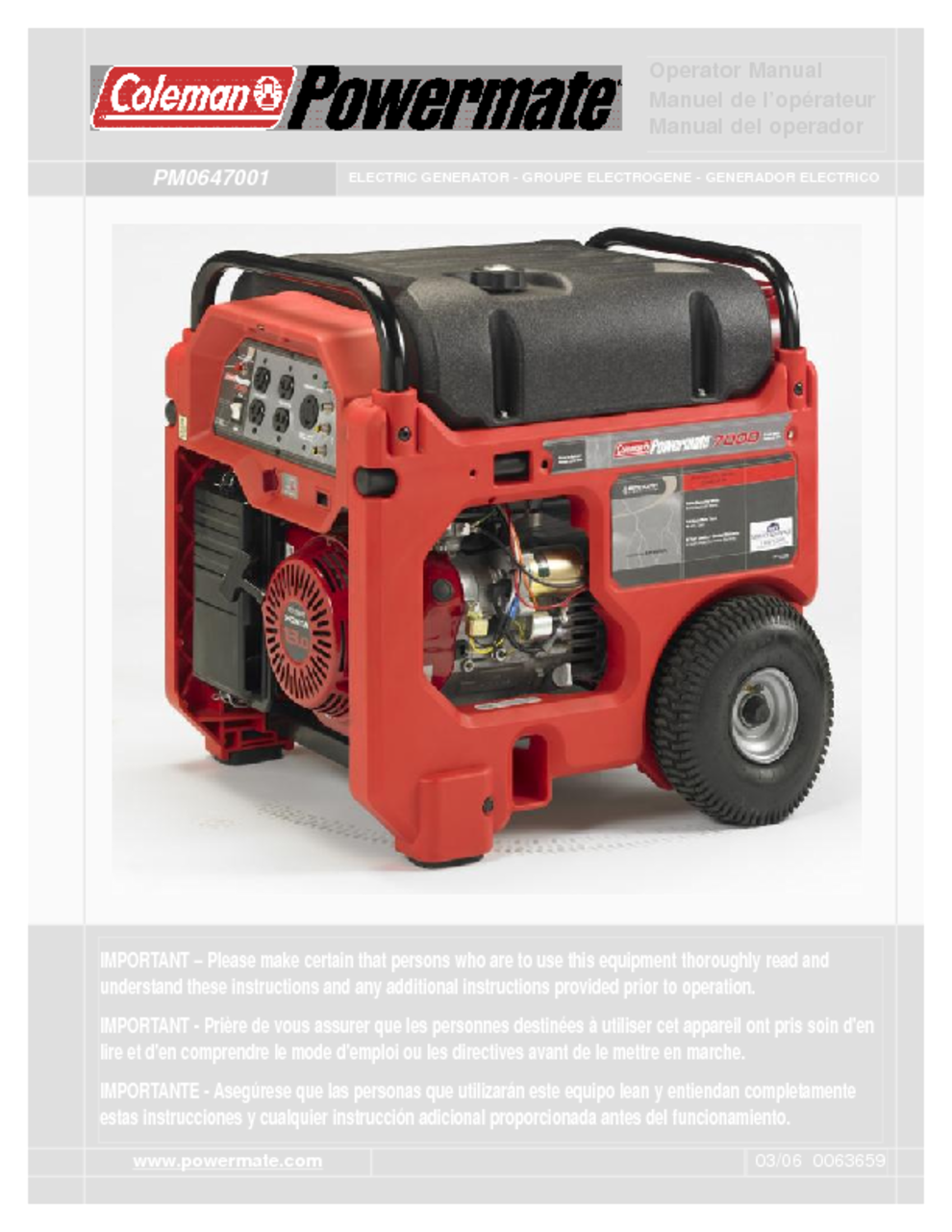 portable generator users guides portable generator page 53 rh usersmanuals1 com Coleman Powermate Drill Battery Coleman Powermate 18-Volt Charger