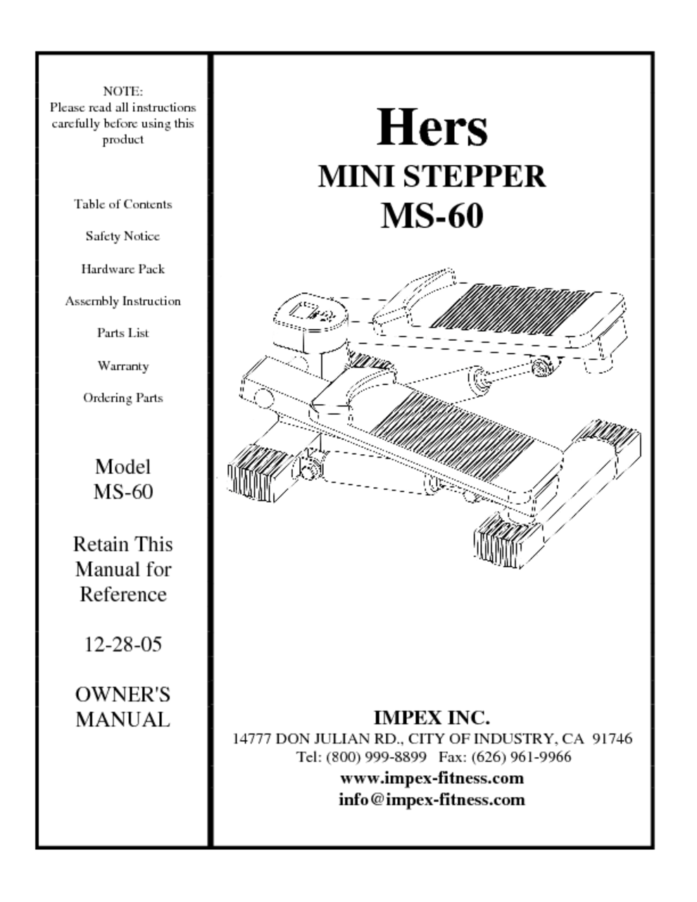 Hers ms 68 mini stepper with bands ms68   ebay.