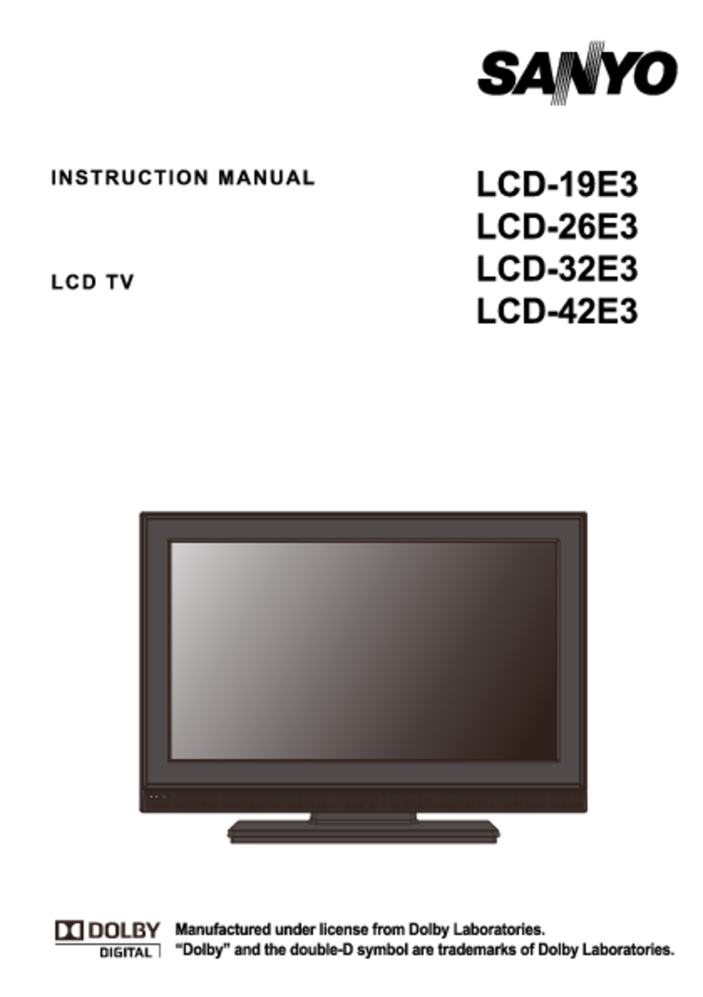 flat panel television users guides flat panel television page 261 rh usersmanuals1 com sanyo lcd tv service manual 40xr10f sanyo lcd tv manual